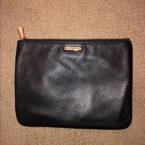 Black Leather Rebecca Minkoff Makeup Bag
